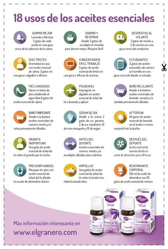18 aplicaciones de los aceites esenciales en el d a a d a for Aceites esenciales usos